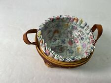 Longaberger 2004 May Series Miniature Pansy Basket Combo wTie on