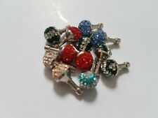 PHONE CHARMS x12 assorted colours