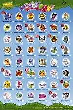 Moshi Monsters : Moshlings Tick Chart - Maxi Poster 61cm x 91.5cm (new & sealed)