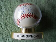 BRIAN SIMMONS AUTOGRAPHED SIGNED BASEBALL Chicago White Sox,Toronto Blue Jays