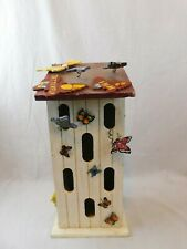 """Butterfly House Wooden Decor 16"""" x 7.25"""" x 5"""" Rustic Country """"Butterfly Inn"""""""