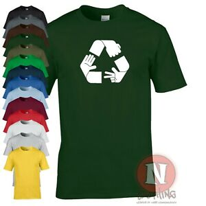 Rock paper scissors recycle t-shirt funny game adult tee