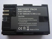 Batterie LP-E6 pour Canon EOS 5D Mark II 5D Mark III 60D 6D 70D 7D