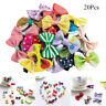20pcs Baby Hair Clips Girls Kids Flowers Hair Clip Bow Hairpin Alligator Clips