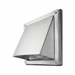Ablufthaube Außengitter Edelstahl Lufthaube mit Verschlussklappe 100 125 150 mm