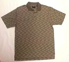 Izod Men's Cotton Cool-Fx Golf Polo Shirt, Modern Geometric, Size Medium