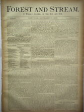 Newspaper Forest and Stream Weekly Journal of the Rod and Gun Hunting 1883 #3