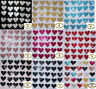 FABRIC SEQUIN 20mm HEARTS IRON-ON DIY TSHIRT TRANSFER PATCH CARD MAKING TOPPER