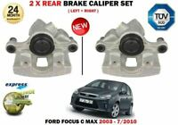 FOR FORD FOCUS C-MAX C MAX MPV 2003-2010 NEW 2X REAR LEFT + RIGHT BRAKE CALIPER