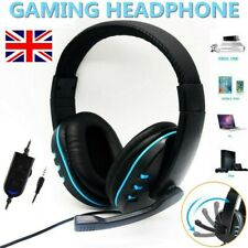 More details for gaming headset 3.5mm wired led headphones with mic for switch xbox one ps4 pc uk
