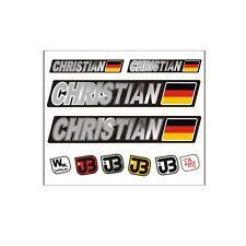 """Christian"" Auto Fahrrad Motorrad Kart Helm Fahrername Aufkleber Sticker Flagge"
