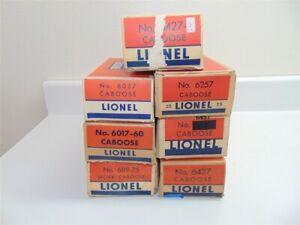 Vintage Lionel Caboose Box Lot 6427,6037,6257,6017,6427,6119, 6357,6457,9064