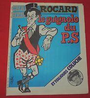 CHARLIE HEBDO n°490 - 1980 - Couverture CABU : Rocard. Coluche. Parfait état