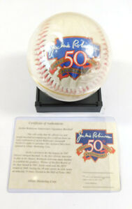 Jackie Robinson 50th Anniversary Commemorative Baseball w/COA
