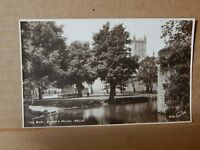 Postcard The moat Bishops palace Wells Somerset Real photo  XC3.