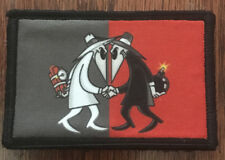 Spy Vs Spy Morale Patch Tactical Military Army Flag Badge Hook USA