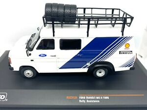 1:43 Scale IXO Diecast Model Ford Transit MK II Rally Service Vehicle from 1986