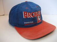 Vintage Denver Broncos NFL Football Hat Discolored Stained Snapback Baseball Cap