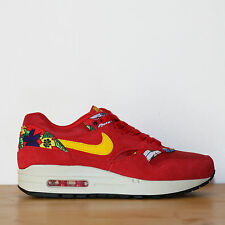 Nike Wmns Air Max 1 Print 5.5us - 36eu Aloha Pack Red Black Rouge Noir Sneakers