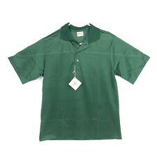 Vintage 80s King Louie Mens L Plain Shirt Green Mesh Golf Tennis Polo Flaw