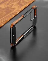 Echt Holz + Metall Rahmen Schutzhülle Wood Case Cover f iPhone 12 11 Pro Xs Max