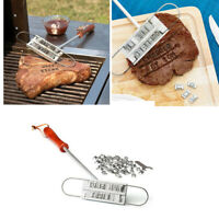 BBQ Barbecue Meat Steak Branding Iron Grill Tool Set W/55 Changeable Letter New