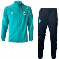 Umbro Herren SV Werder Bremen Trainingsanzug 2020 2021 Knit Suit grün schwarz