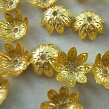 Wholesale 150pcs Yellow Gold Plated Flower Bead Caps Jewerly Findings 9.5mm