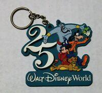 Vintage Walt Disney World 25th Anniversary ~ 3D Rubber Keychain