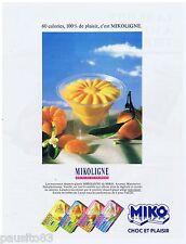 PUBLICITE ADVERTISING 105  1988  MIKO    glaces moins de calories MIKOLIGNE