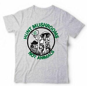 Hunt Mushrooms Not Animals Tshirt Unisex & Kids - Vegan, Staten Island,