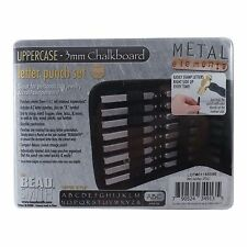 3mm Chalkboard UPPERCASE Letter Stamp Set Punch 27 Piece Steel Metal Alphabet