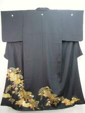 B3-4721a1110 Silk Tall Japanese kimono Tomesode Gorgeous Folding Fan Flower