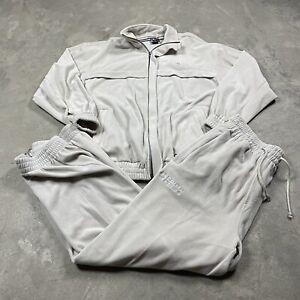 90s VTG SOUTHPOLE JEANS VELOUR Tracksuit Set L Jacket Pants Off White Y2K 2000s
