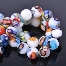 6mm 8mm 10mm 12mm Mixed Flowers Millefiori Glass Loose Spacer Beads Lots