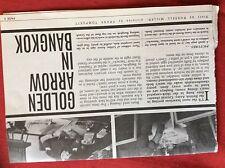 m2r ephemera  1965 article british army golden arrow bangkok neil grayson