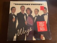 "WINGS GOODNIGHT TONIGHT VINYL 12"" DISCO SINGLE IN SHRINK HYPE STICKER COLUMBIA"