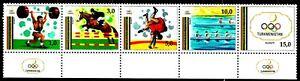 Turkmenistan 1992 Sc22 Mi15-9 1 Strip mnh Olympic Games Barselona'92.