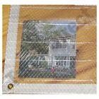 20' x 30' Clear Poly Tarp Room Divider Patio Porch Enclosure Fumigation Curtain