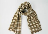 NWT Drake's Luxurious Men's Brown Plaid Lambs Wool Angora Scarf $225