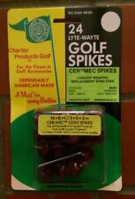 Lot of 2 pkgs of 24 MEC 363 CER-MEC large plastic thread metal Golf Shoe Spikes