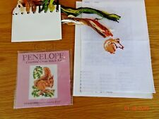 PENELOPE PCE 34 SQUIRREL COUNTED CROSS STITCH Started