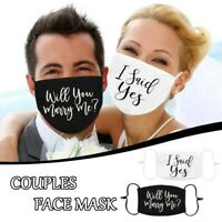 Mehrwegmaske ♥️ Stoffmaske Hochzeit Willst du mich heiraten Antrag marry me love