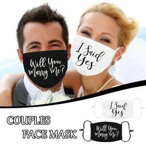 Mehrwegmaske ♥️ Stoffmaske Hochzeit Willst du mich heiraten Antrag wedding
