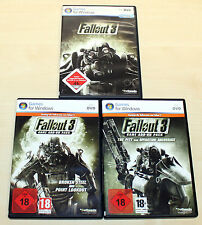 FALLOUT 3 & 2 ADD ON PACKS THE PITT OPERATION ANCHORAGE BROKEN STEEL POINT - PC