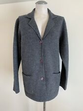 Jessica Holbrook Women's Large Button Up Jacket Gray Coat 100% Wool