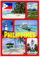 FILIPINAS - RECUERDO ORIGINAL Imán de NEVERA - MONUMENTOS / Ciudades -NUEVO-