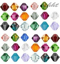 500pcs Loose Glass Crystal Bicone Shaped Spacer Beads For Jewelry Making 4/6mm~~
