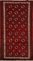 Geometric Balouch Afghan Oriental Area Rug Wool Hand-Knotted All-Over Carpet 3x5
