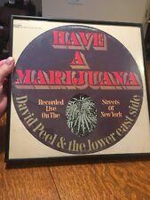 "FRAMED 78 ""HAVE A MARIJUANA"" David Peel & The Lower East Side. on Elektra"